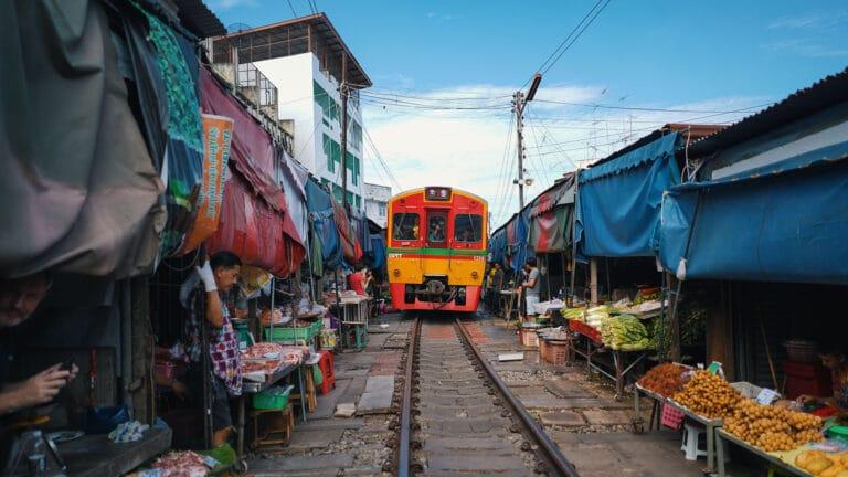 Maeklong Railway Market Thailand