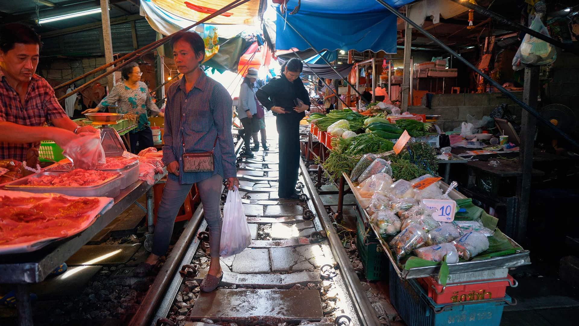 Zug Markt in Thailand
