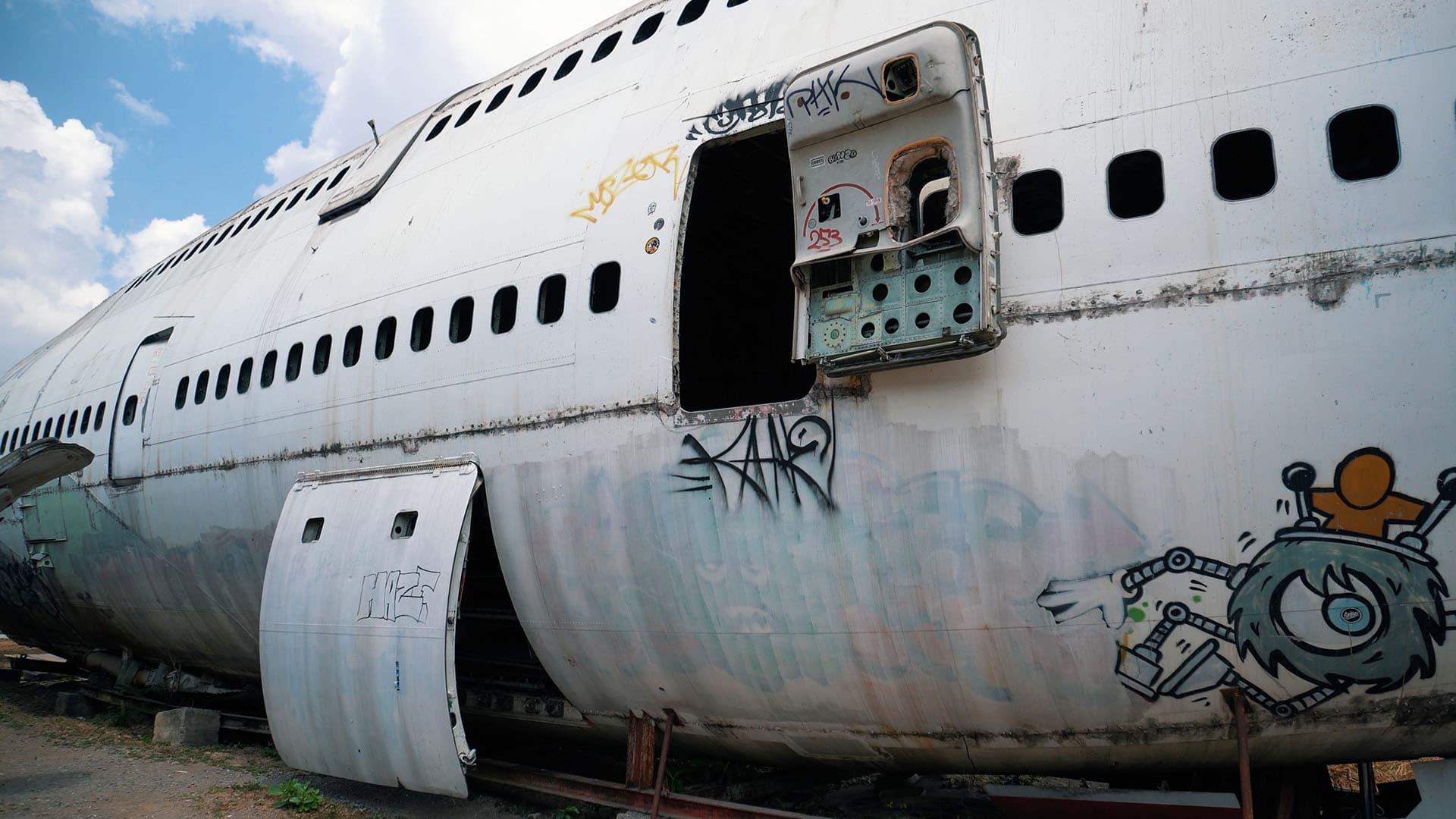 Boeing 747 am Flugzeugfriedhof in Bangkok