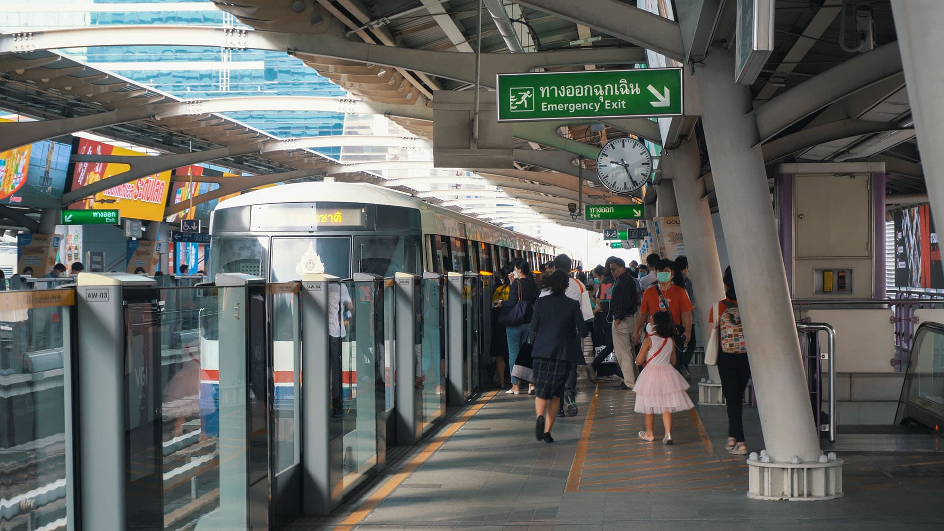 BTS Skytrain Station Sala Daeng in Bangkok