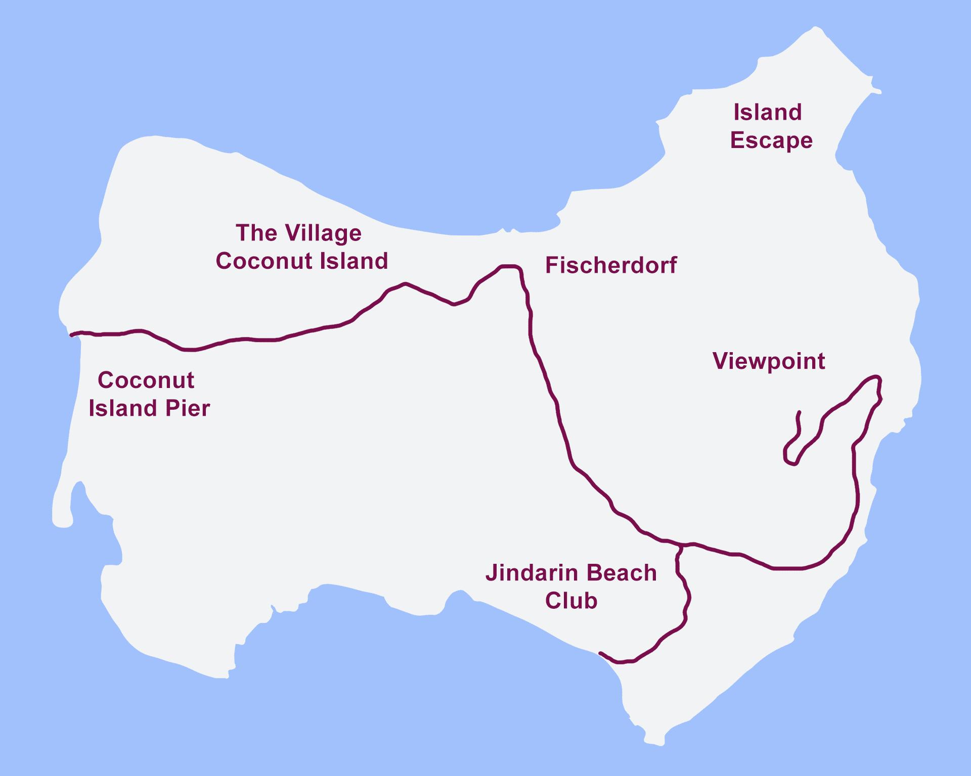 Coconut Island Karte