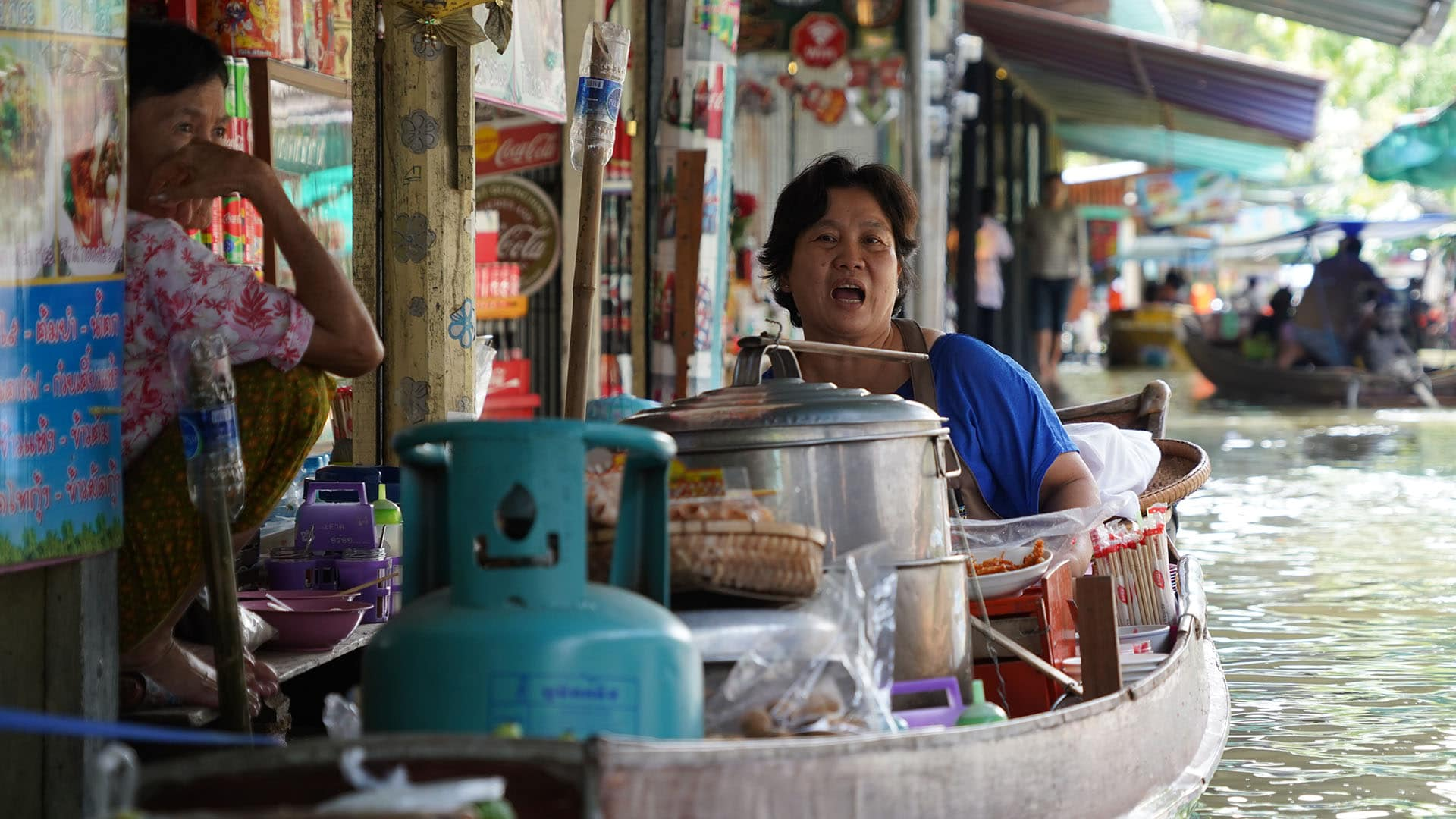 Boat Noodles am Damnoen Saduak Floating Market