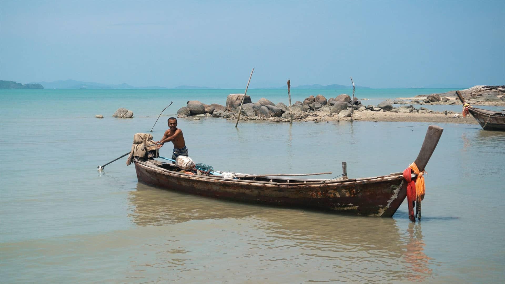 Fischer auf Coconut Island