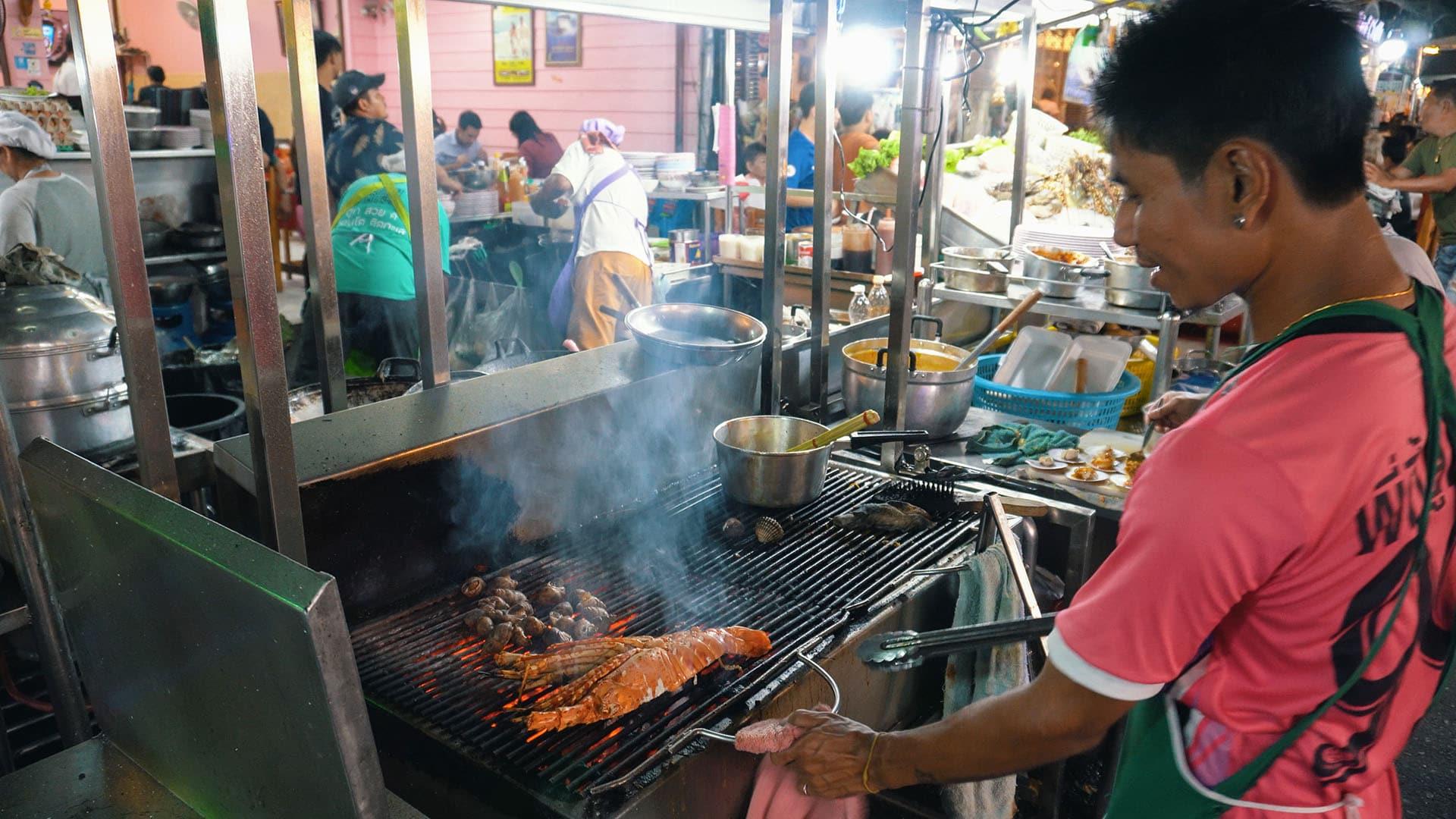 Seafood Grill am Hua Hin Nachtmarkt