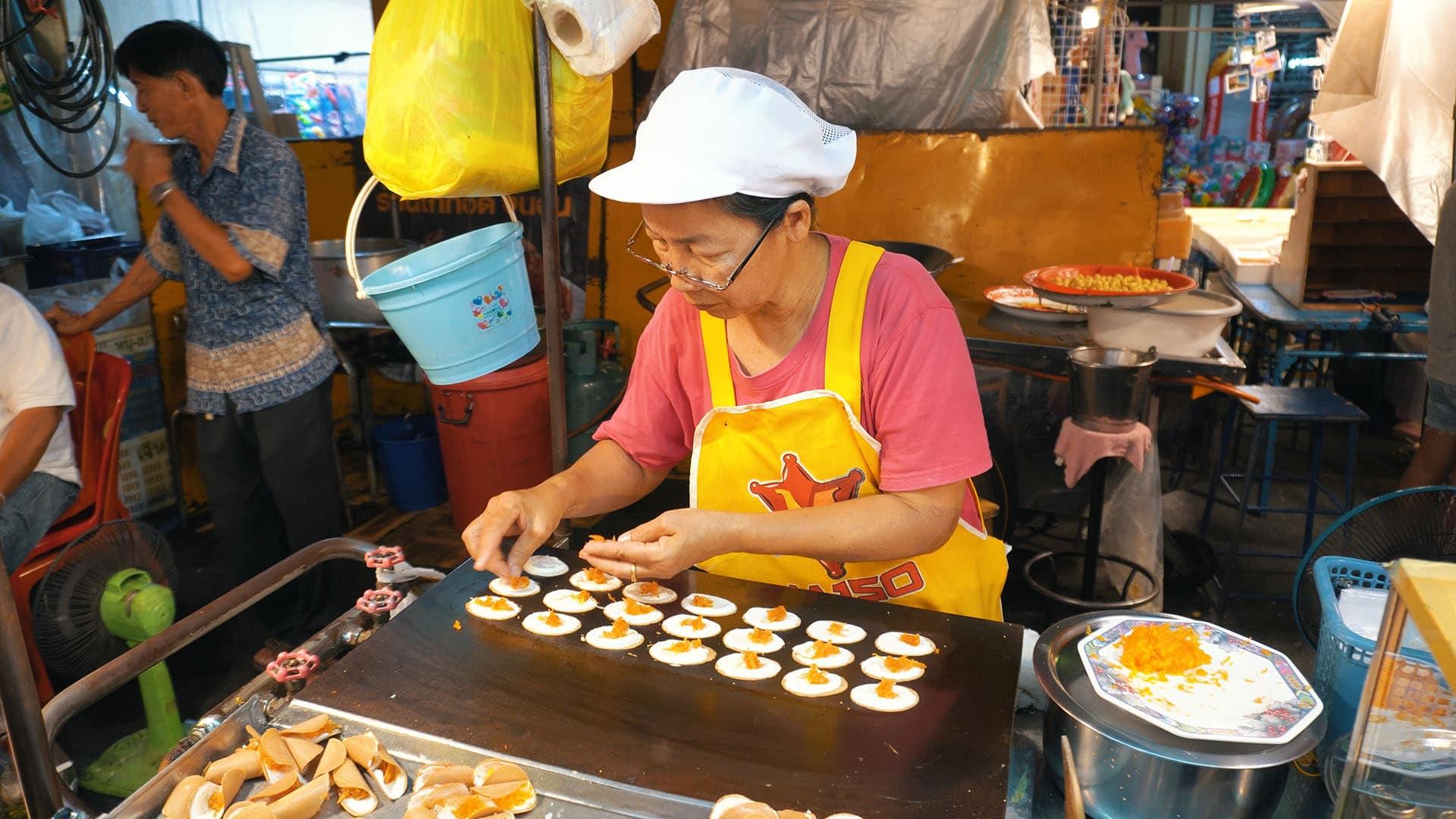 Thai Desserts am Hua Hin Nachtmarkt