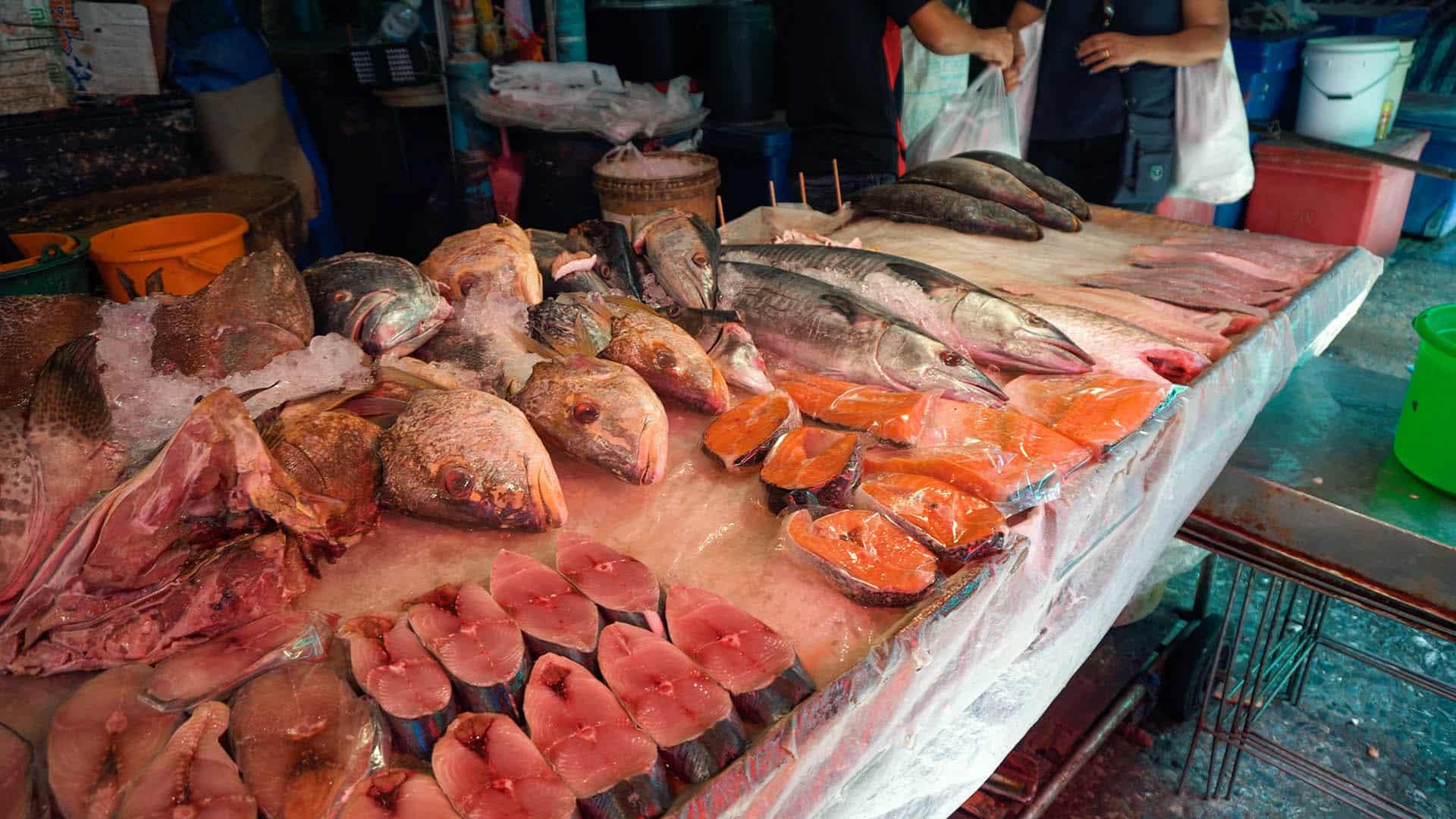Fisch am Khlong Toey Market Bangkok