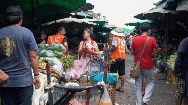 Khlong Toey Market in Bangkok