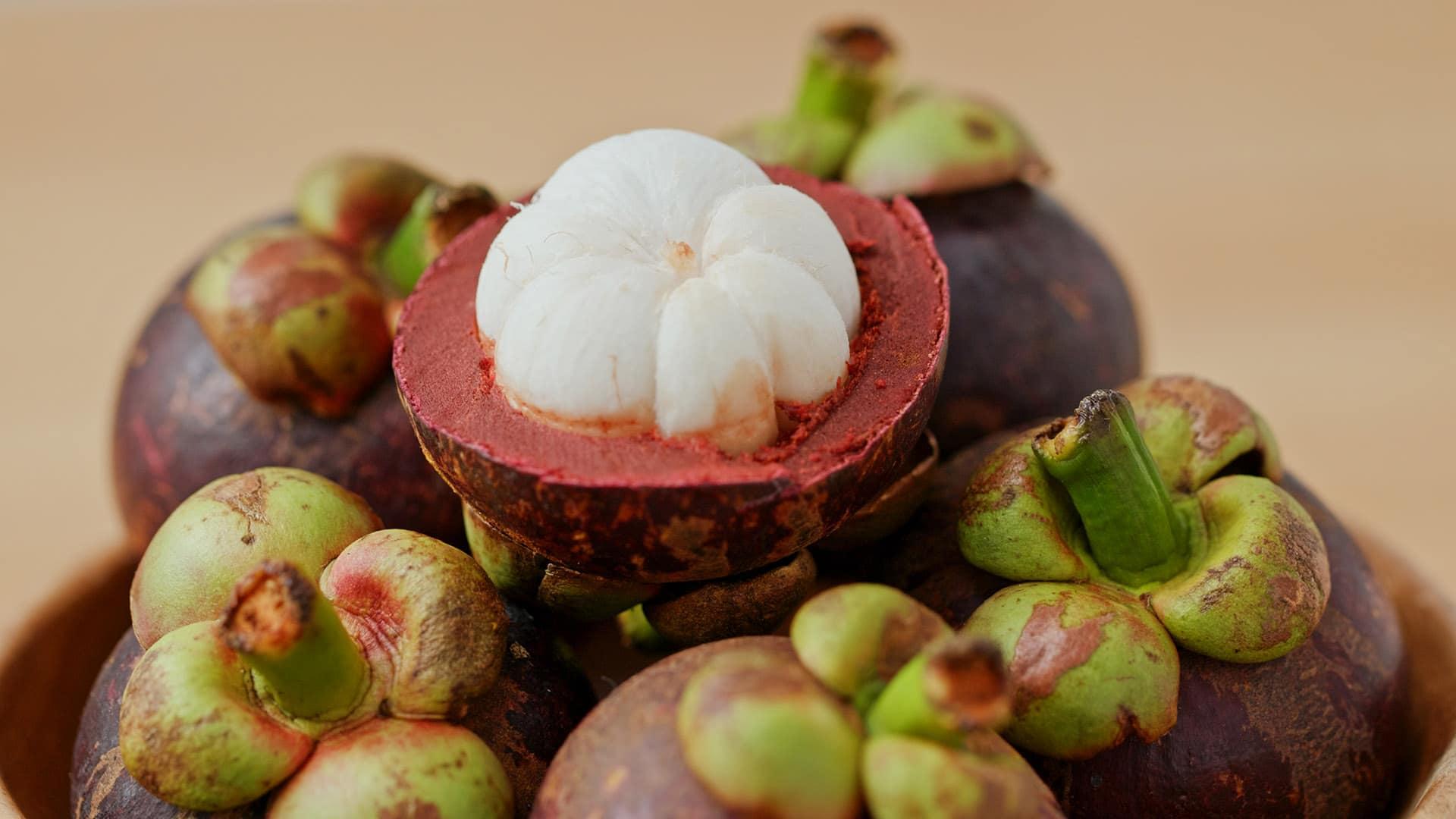 Mangostane Frucht