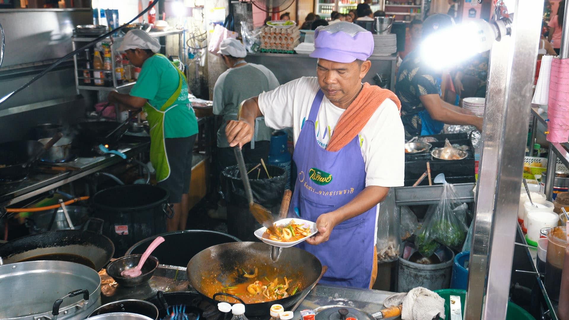 Seafood Restaurant am Hua Hin Nachtmarkt